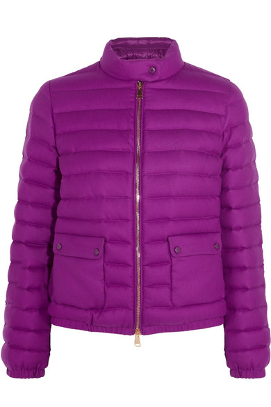 Moncler - Actea quilted cashmere down jacket