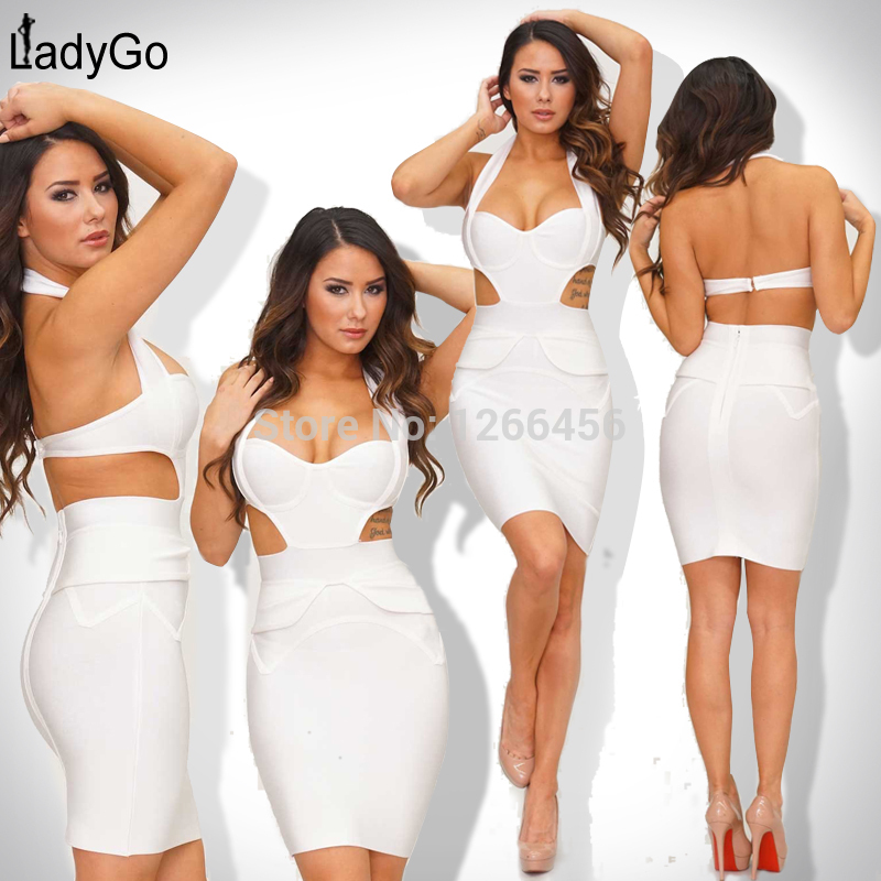 Aliexpress.com : buy 2014 europe rayon sweetheart neckline halter cap sleeve cut out ruffle celebrity white evening bandage dress h1019 from reliable bandage party dress suppliers on lady go fashion shop
