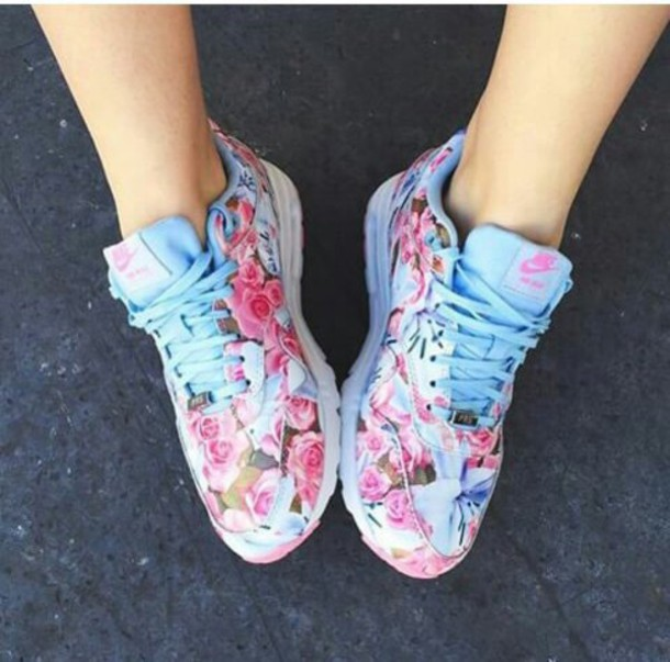 Shoes Floral Shoes Nike Shoes Pastel Sneakers Custom
