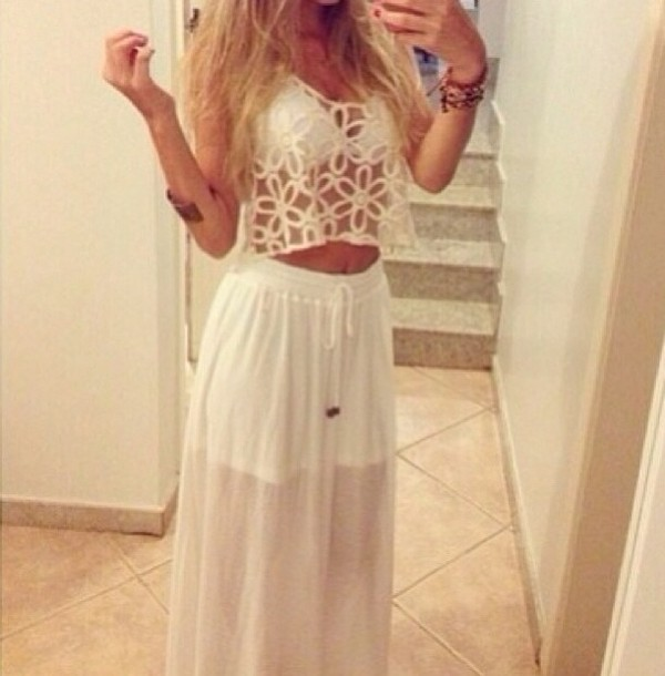 dress white lace dress cute tumblr clothes needtohave