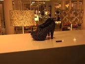 shoes,studs,black,gold,booties,high heels