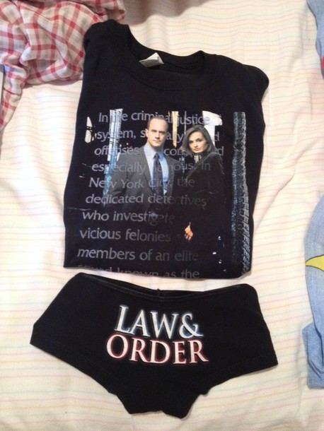 pajamas underwear shorts tank top law and order svu