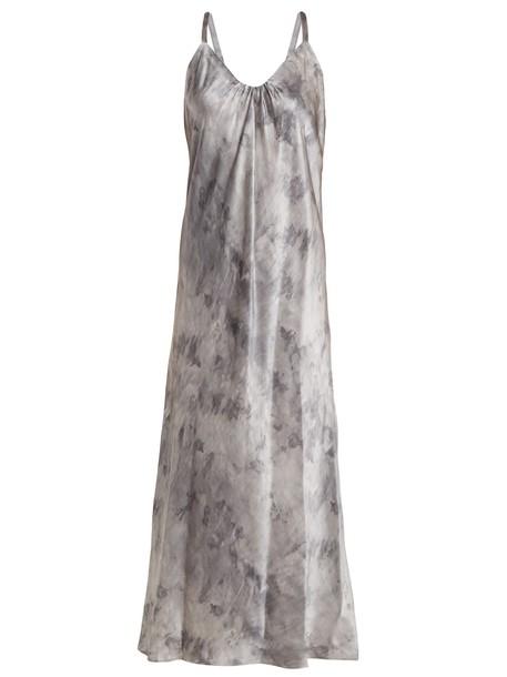Vince dress midi dress midi print silk satin grey
