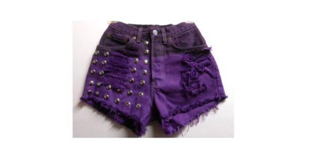 shorts purple shorts
