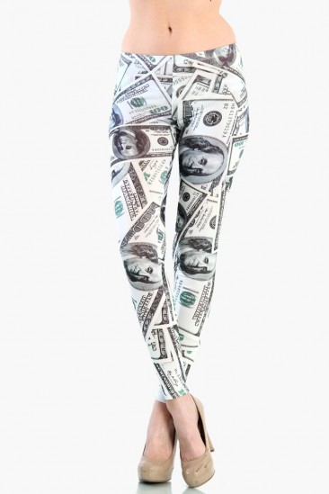 LoveMelrose.com From Harry & Molly | MONEY PRINT LEGGINGS Plus