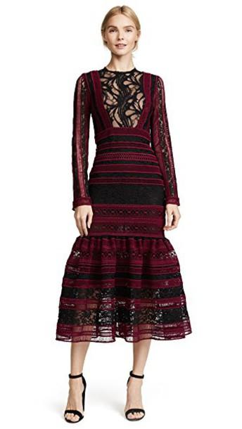 Costarellos dress midi dress midi black red