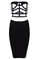 Block cage skirt bodycon twinset – outfit made