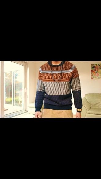 sweater tribal pattern guys tumbr