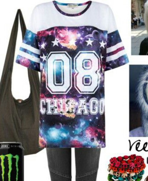 shirt galaxy shirt striped shirt white t-shirt number tee jersey stars space cute top
