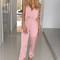 Silky satin jumpsuit - blush – noodz boutique