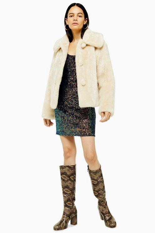 Ivory Faux Fur Coat - Ivory
