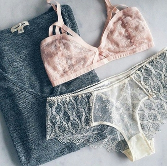 underwear sweater mesh see through lace floral light pink gray sweater bra panties vintage hipster style styled stylish trendy trend girly cute tumblr cool tumblr outfit tumblr sweater tumblr clothes girl blogger glitter pastel women girgeous instagram knitwear pretty elegant preppy beautiful clothes on point clothing
