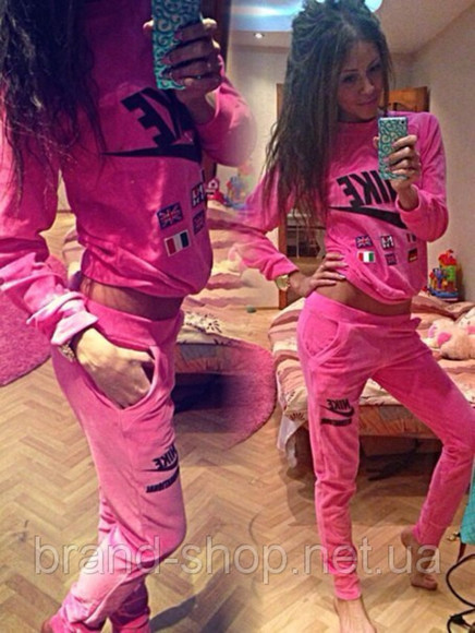 nike swag jumpsuit velvet velour sweatsuit outfit outwear everyday wear sweatsuit tracksuit