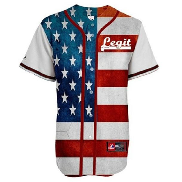 shirt american flag american flag shirt jersey baseball jersey jersey dress t-shirt dope summer outfits stars july 4th