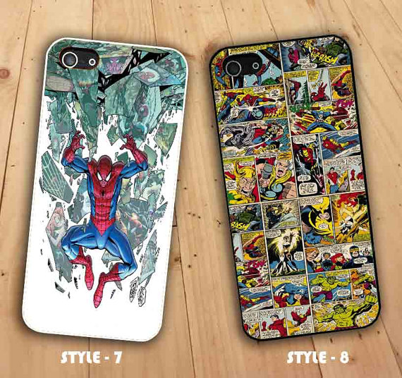 Marvel comics the amazing spider man & marvel comics for iphone and samsung case