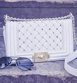 white bag bag leather bag shoulder bag white leather bag streetstyle stylemoi classy