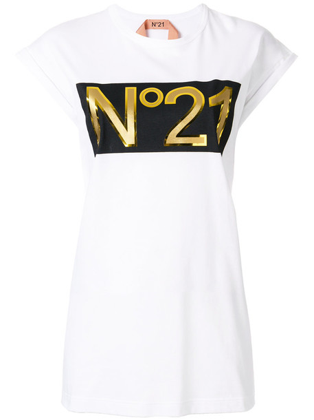 No21 t-shirt shirt t-shirt women white cotton top