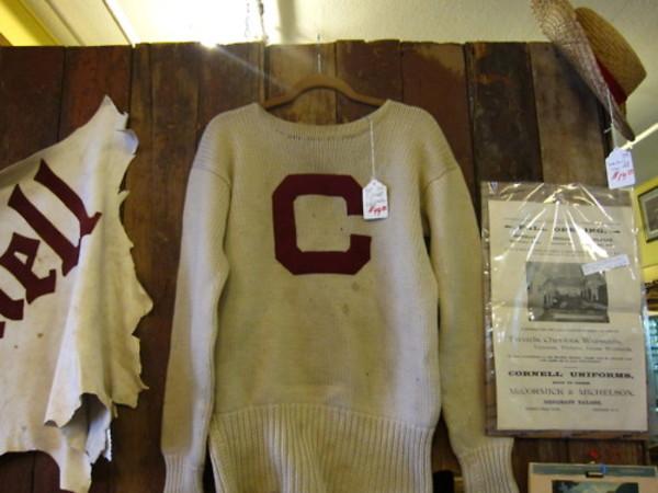 Sweater cornell vintage letter wheretoget for Cornell letter sweater