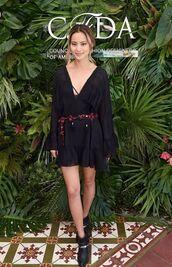 dress,black dress,boho,coachella,coachella outfit,ankle boots,mini dress,blogger,jamie chung,shoes