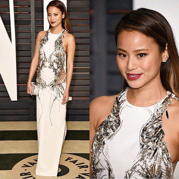 dress gown oscars 2015 jamie chung