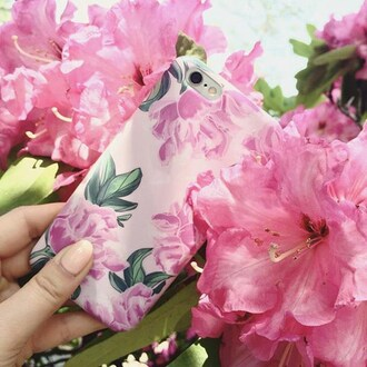 phone cover yeah bunny peony iphone pink pastel