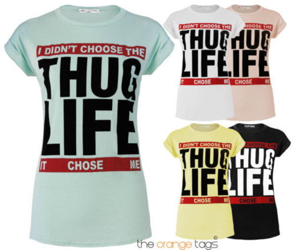 shirt thug life t-shirt swag hipster summer short sleeve mint nude black white lemon red