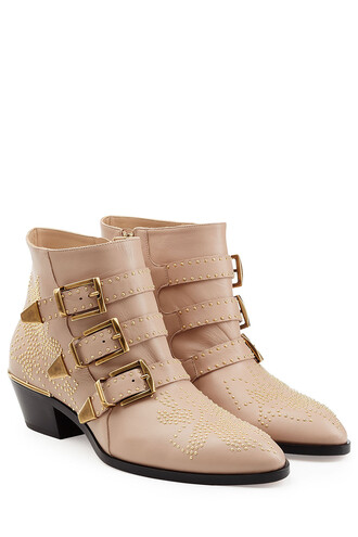 studded boots ankle boots rose shoes
