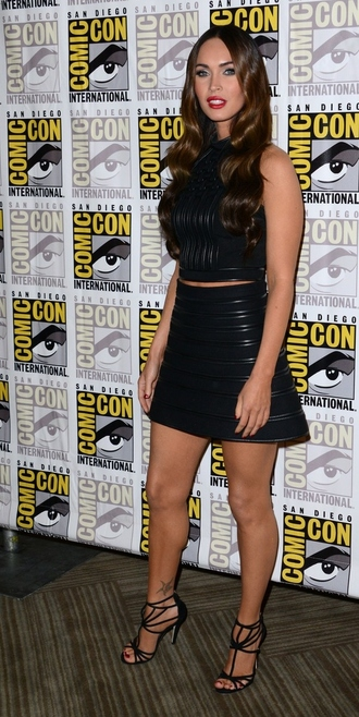 skirt shoes top sandals megan fox