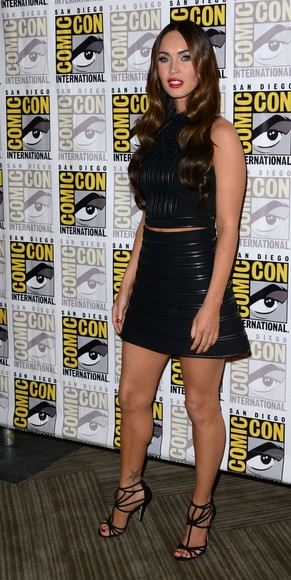 top shoes skirt sandals megan fox