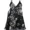 Carven - statue of liberty print dress - women - silk/linen/flax/polyester/viscose - 38, black, silk/linen/flax/polyester/viscose