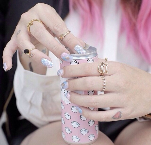 nail accessories ring cat ring kawaii streetstyle hands accessories