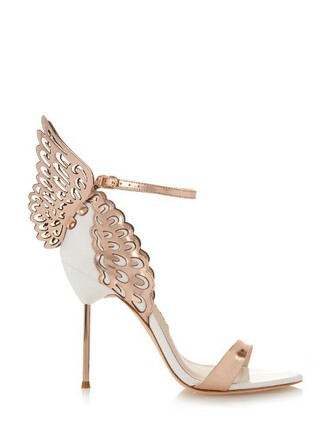 angel sandals gold white shoes