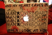 jewels,laptop,stickers,tumblr,man overboard,clothes,shoes,high heels,apple,quote on it,pretty,floral,flowers