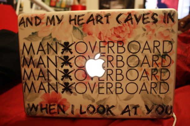 jewels laptop stickers stickers tumblr man overboard clothes