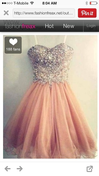 dress prom dress sparkling dress pink sparkle sweetheart dresses