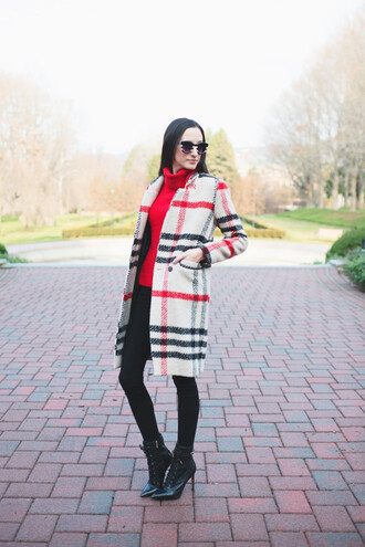 the glam files blogger sweater jewels leggings shoes wool coat