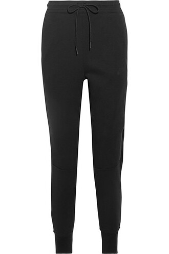 pants track pants cotton black