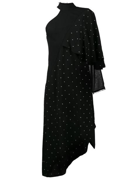 KITX dress studded metal women black silk