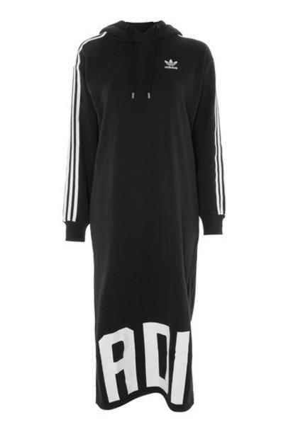 Topshop dress adidas originals black