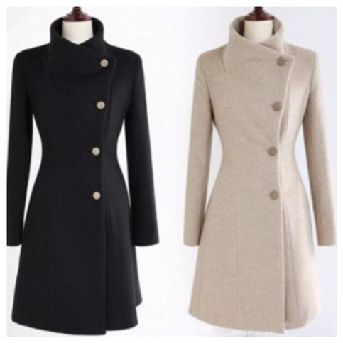 Side button down belted wool coat from doublelw on storenvy