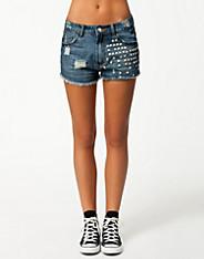 Price Amelia Shorts - Sally&Circle - Blue - Trousers & Shorts - Clothing - Women - Nelly.com Uk