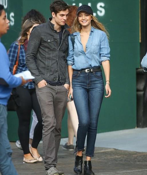 jeans gigi hadid denim skinny jeans