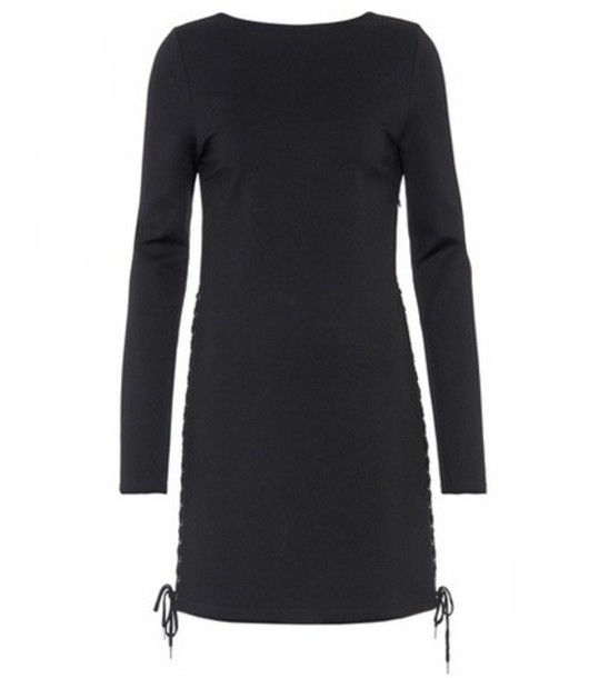 McQ Alexander McQueen Lace-up dress in black