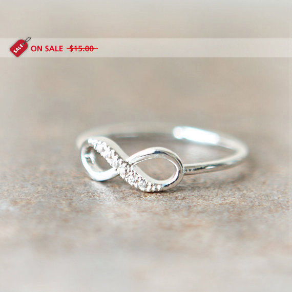 ON SALE  Infinity Ring in silver by laonato on Etsy