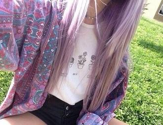 blouse veste pink blouse coat pink coat flowers pale blue flowers pink flowers vintage vintage jumper chemise blue blue jacket jacket spring jacket green