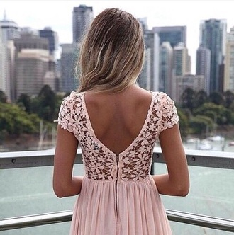 dress white pink dress dentelle