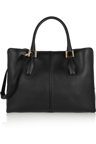 Cube shopping medium leather tote