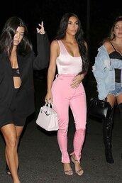 pants,kim kardashian,top,bodysuit,kardashians