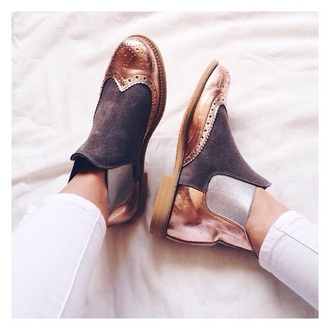 shoes ankle boots boots bronze
