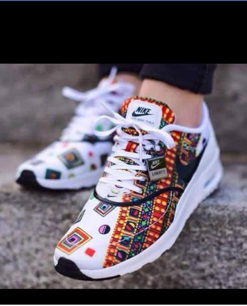 chaussures de séparation 16ea4 5e806 2015NIKE Women Air Max Thea Lib QS 746082 100 White Merlin Liberty London |  eBay